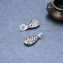 Charm treo giọt nước họa tiết hoa văn - Ngọc Quý Gemstones