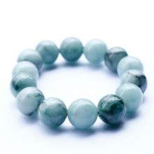 Vòng tay đá cẩm thạch phỉ thúy 14mm mệnh hỏa, mộc - Ngọc Quý Gemstones