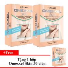 Viên uống trắng da, giảm thâm nám Omexxel Skin 60 viên - xuất xứ Mỹ- tặng 1 hộp Omexxel Skin