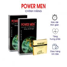 Combo 2 Hộp Bao Cao Su Powermen gân gai, Kéo dài thời gian Hộp 12 chiếc