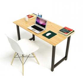 Bộ bàn Oak-T vân gỗ sồi chân đen gấp gọn và ghế Eames chân gỗ trắng - IBIE