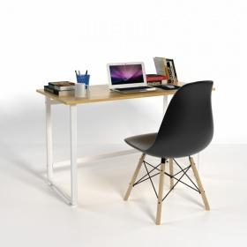 Bộ bàn Rec-F trắng 1m2 và ghế Eames đen - IBIE
