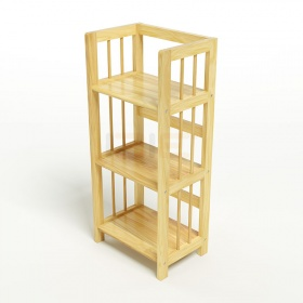 Kệ sách 3 tầng HB340 gỗ cao su màu tự nhiên (40x30x90cm)