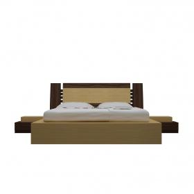 Bộ giường ngủ Shima 1m6 nâu - IBIE