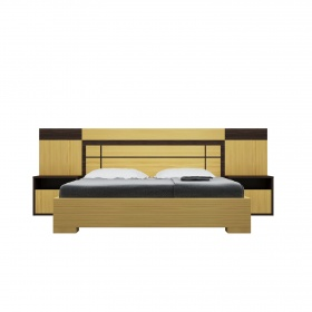 Bộ giường ngủ Honshu 2m nâu - IBIE