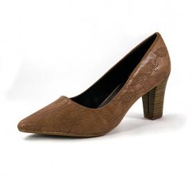 Giày cao gót rắn nâu Dolly & Polly