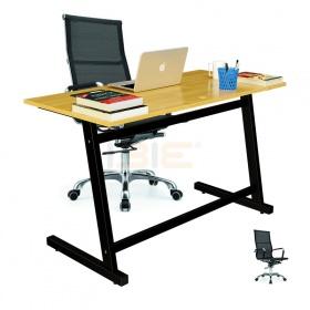Bộ bàn Rec-Z đen và ghế IB16A đen