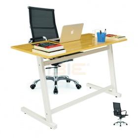 Bộ bàn Rec-Z trắng và ghế IB16A đen