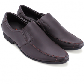 Giày tây nam Huy Hoàng viền chỉ màu nâu  HV7705