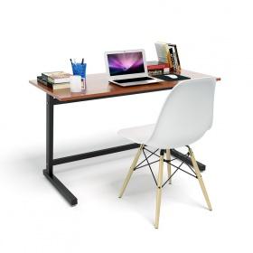 Bộ bàn Rec-Z đen màu cánh gián và ghế Eames chân gỗ trắng