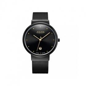 Đồng hồ nam Julius Hàn Quốc dây thép JA-426MA đen