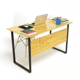 Bộ bàn Rec-F Plus chân đen màu tự nhiên và ghế Eames trắng - IBIE