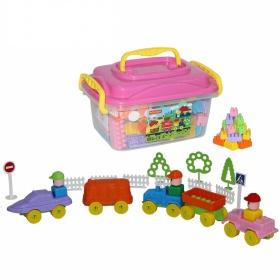 Bộ đồ chơi lắp ghép xây dựng kèm hộp đựng 136 chi tiết Polesie Toys