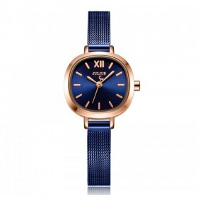 Đồng hồ nữ  JS-026C JULIUS Star Hàn Quốc dây thép - xanh