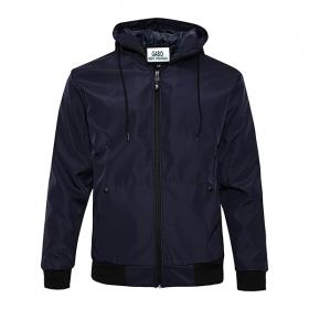Áo khoác dù for men style Korea phối nón Gabofashion AKDU003 (xanh đen)