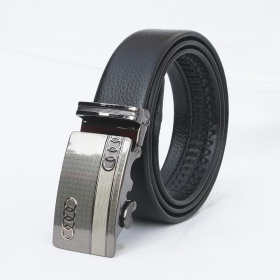 Dây nịt- thắt lưng nam da bò khóa tự động Mercedes cao cấp Manzo 290.V (tặng móc khóa da bò thật)