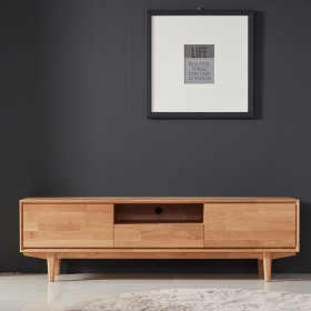 Tủ tivi Calla gỗ cao su 1m6 (3 ngăn kéo) - Cozino