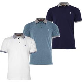 Bộ 3 áo thun nam cổ bẻ phối bo chuẩn phong độ cao cấp Pigofashion AHT08 - trắng, vịt, xanh đen