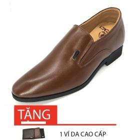 Giày công sở tăng chiều cao nam tăng cao 6cm N2101MN Lucacy-Tặng ví da cao cấp