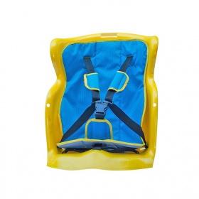 Ghế ngồi sau xe máy Beesmart X2 màu vàng không tựa đầu - Lót xanh
