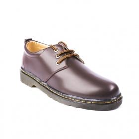Giày boot nam cổ ngắn màu nâu da trơn cực đẹp và phong cách để khâu chắc chắn - m353-nau