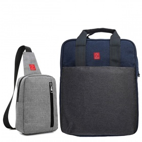 Combo thời trang Glado commuter GCO001 (màu xám) + túi messenger DCG026 (đủ màu)