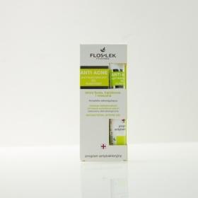 Combo 2 kem trị mụn Floslek anti acne antibacterial intense gel 20ml - nhập khẩu Balan