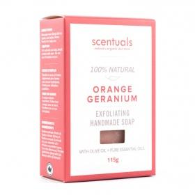 Sáp tắm Scentuals Cam Phong lữ - Orange Geranium handmade soap 115g