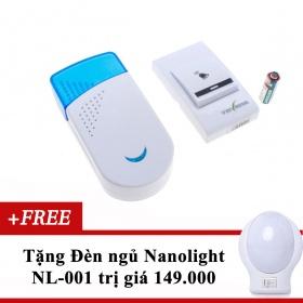 Chuông cửa đơn không dây Tavana DB-001 tặng Đèn ngủ Nanolight NL-001