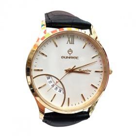 Đồng hồ nam Sunrise DM783SWA W chính hãng (full box + thẻ bảo hành 3 năm) kính sapphire chống xước - chống nước - dây da cao cấp