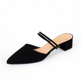 Giày nữ, giày cao gót kitten heels Erosska bít mũi phối dây thời trang cao 3 cm EK005 (BA)