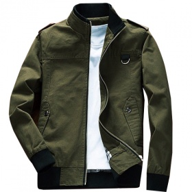 Áo khoác kaki nam cao cấp dáng áo đứng, phù hợp nhiều phong cách KVN01
