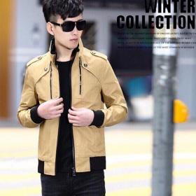 Áo khoác kaki nam cao cấp dáng áo đứng, phù hợp nhiều phong cách kvncv02 (kem)
