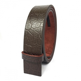 Dây thắt lưng nam, dậy nịt nam da bò nguyên miếng thật 100% dập vân voi, khóa gạt Lucio DL01