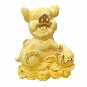 Heo Vàng Phát - Quà tặng mỹ nghệ Kim Bảo Phúc phủ vàng 24k DOJI