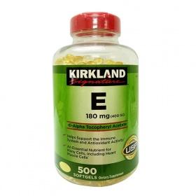 Vitamin E thiên nhiên của Mỹ 500 viên - Kirkland Signature Vitamin E 400 iu