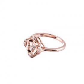 Nhẫn vàng hồng nữ cao cấp DOJI 14K 0819R-NAL631