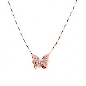 Mặt dây chuyền vàng hồng đính đá DOJI 14K 0819P-LAL011