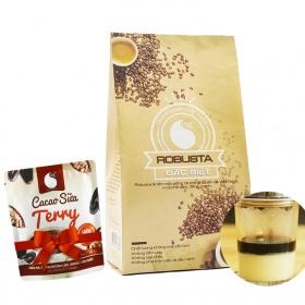 Cafe bột đặc biệt Light Coffee - gói 500g tặng cacao sữa Terry 50g
