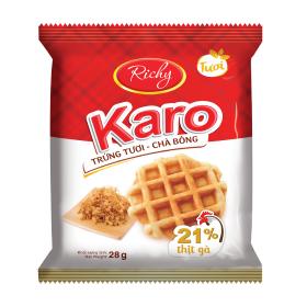 Bịch 24 chiếc bánh tươi trứng chà bông Karo Richy