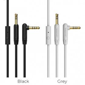 Cáp audio AUX Borofone BL5 chuyển jack 3.5mm sang jack 3.5 mm, hỗ trợ Microfone, nút điều khiển