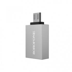 Đầu cáp chuyển OTG Borofone BV2 USB-A sang micro USB, USB 3.0