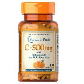 Viên uống bổ sung vitamin C của Puritan's Pride - Vitamin C 500mg 100 viên