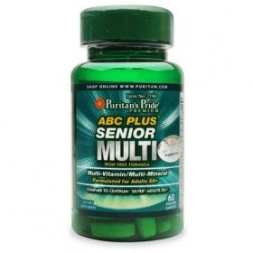 Viên uống vitamin tổng hợp cho người cao tuổi ABC senior Multi vitamin lọ 60 viên của Puritan's Pride