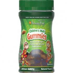 Viên nhai vị hoa quả bổ sung Vitamin cho trẻ trên 2 tuổi Children's Multivitamins Gummies Puritan's Pride 60 viên DATE T3/2021