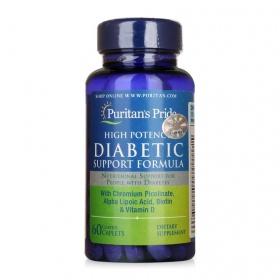 Công thức đặc biệt bổ sung vitamin cho người tiểu đường Diabetic support của Puritan's Pride, lọ 60 viên