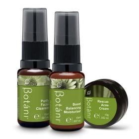 Bộ 3 sản phẩm chăm sóc da mụn Botani Rescue Skin Kit (Mini Size)