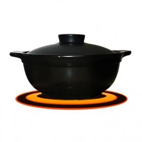 Nồi đất nấu trên bếp từ 1,2 lít NodaCook (đen)