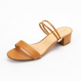 Giày nữ, giày cao gót Erosska phối dây thời trang thanh lịch cao 5cm - EM030 (màu nâu)