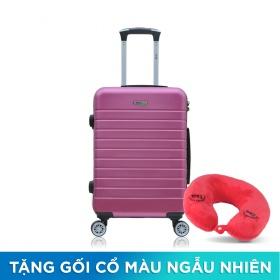 Vali chống trộm Trip PC911 Size 50cm tím hồng (tặng 1 gối cổ màu ngẫu nhiên)